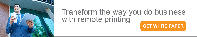 secure remote printing from PrinterOn