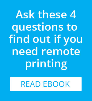 Do I need remote printing from PrinterOn?