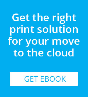 True cloud printing ebook from PrinterOn