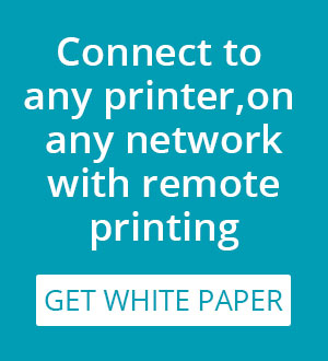 remote printing white paper from PrinterOn
