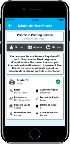 iOS mobile printing app from PrinterOn