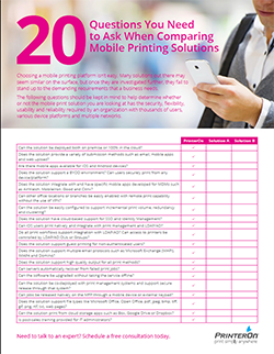 20 questions to ask when comparing mobile printing solutions