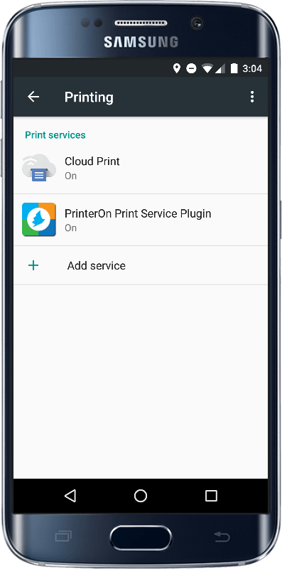 native android printing