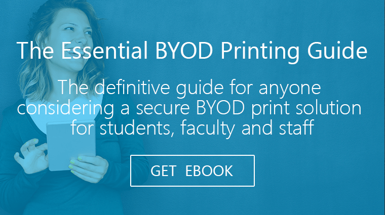 secure BYOD printing from PrinterOn