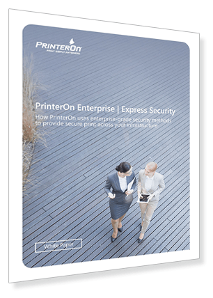 secure mobile printing white paper from PrinterOn